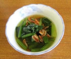 小松菜と桜エビの煮浸し★汁物の代わりにも