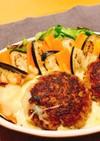 夢のよう!チーズに浮かぶハンバーグ