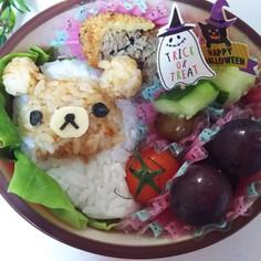 ハロウィン☆おばけリラックマのキャラ弁