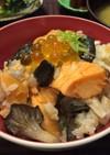 鮭とキノコの土鍋炊き込みご飯