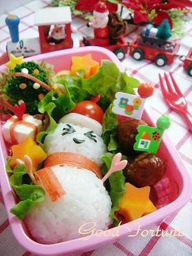 キャラ弁☆ゆきだるまのクリスマス弁当