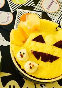 ハロウィンにレンチンカップケーキ
