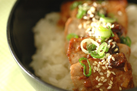 マグロの生姜味噌焼き