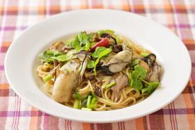 牡蠣とセリのスパゲッティ