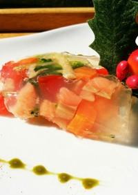 犬ご飯 鮭と野菜のゼリー寄せ