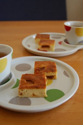 キャラメルりんごのチーズケーキ。