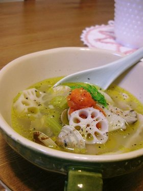 かぶと塩豚のスープ