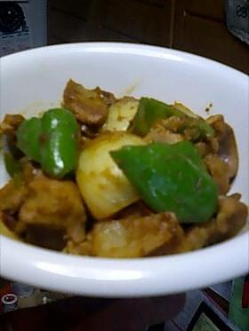 砂肝のカレー炒め
