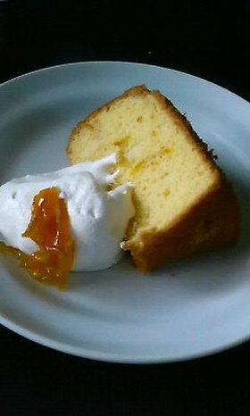★小麦粉なし★上新粉のゆずシフォンケーキ