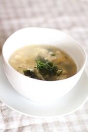 青じそ香るかき玉スープの写真