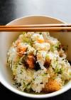 鮭と野沢菜ちりめんの混ぜご飯