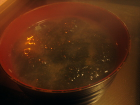 もちもちとろろのお味噌汁