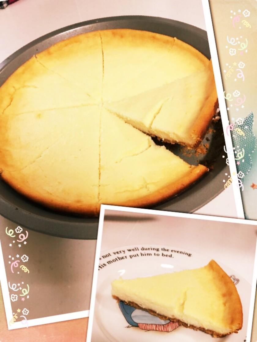 簡単レシピ*水切りヨーグルトチーズケーキ