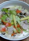 豚バラ肉とキャベツの中華風クリーム煮