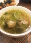 やさしい味!レタスと肉団子のスープ