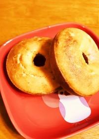 玄米粉と豆乳で♫牛乳不使用焼きドーナツ
