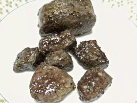 鹿モモ肉のサイコロステーキ