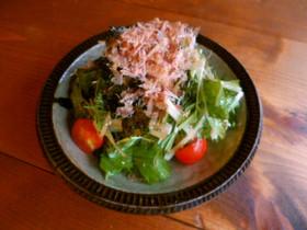 水菜と大根のサラダ♪