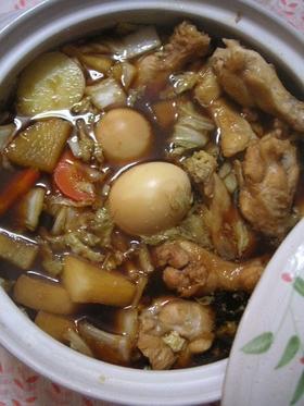 お酢で柔らか~手羽元と大根のさっぱり鍋