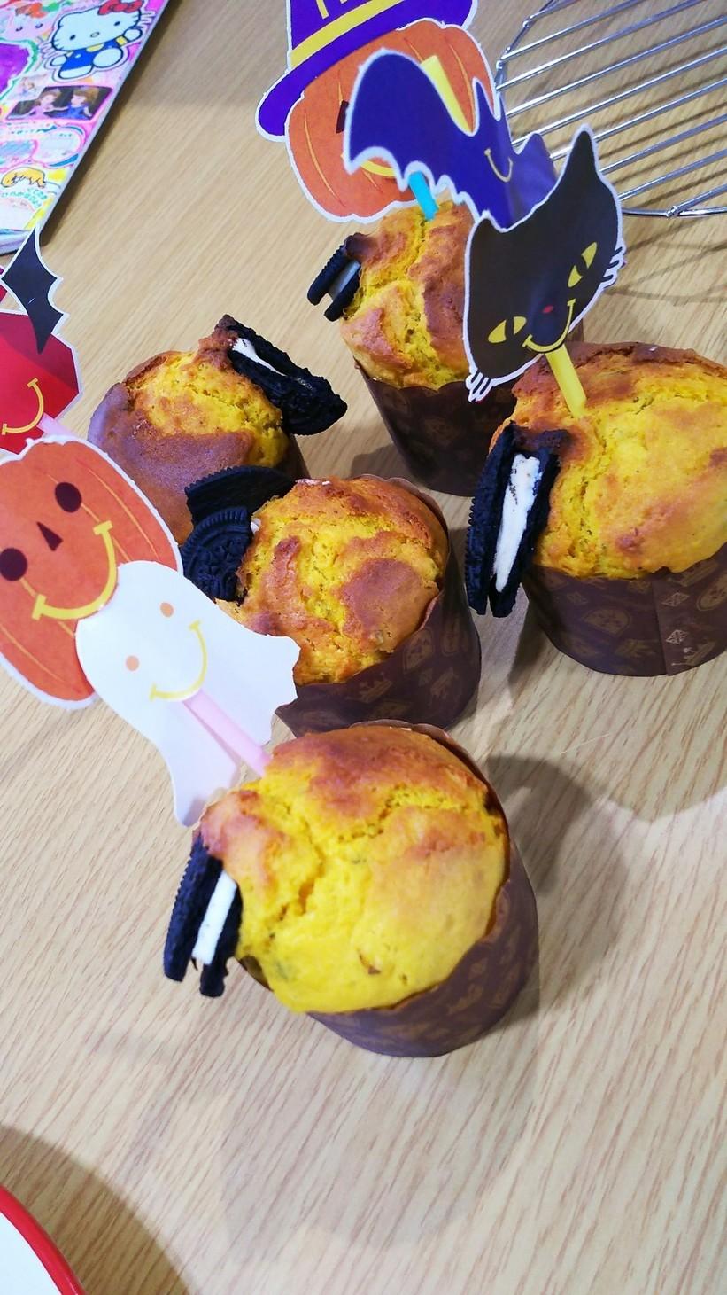 ハロウィン*かぼちゃのマフィン*hm簡単