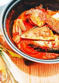 コドゥンオチョリム☆韓国のサバの煮付け