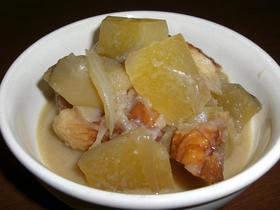 ヤーコンと竹輪の味噌煮。