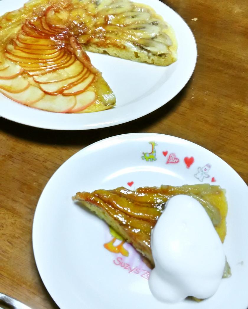HMでりんごとバナナのフライパンケーキ