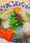 ジンジャー香る肉団子と春雨のスープ