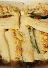 沢庵.金山寺味噌胡瓜.鰹節のサンドイッチ