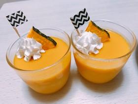 *レンジで簡単!かぼちゃプリン*
