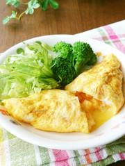 柿とチーズのオムレツ♡卵焼きでもいいよ♪の写真
