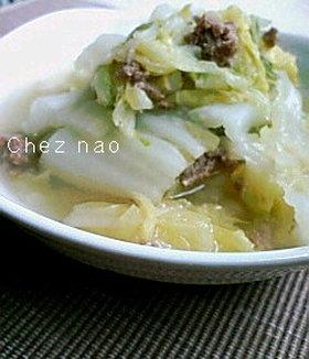 白菜と挽肉のコトコト煮