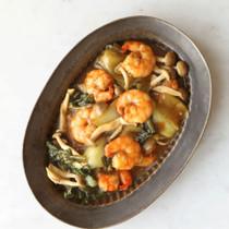 えびと青梗菜の黒酢煮
