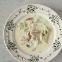 白菜とベーコンのチャウダー