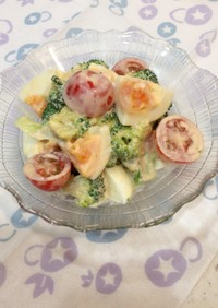 ブロッコリー&トマト&たまごのサラダ