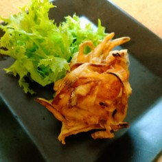 簡単✩しっかり味のエビとゴボウのかき揚げ