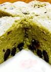 レンジで簡単*HMで抹茶と黒豆のケーキ