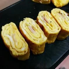 ベーコンとチーズの玉子焼き♡