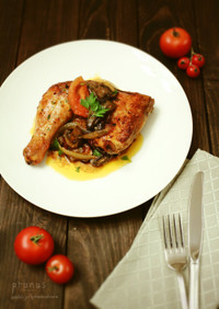 皮パリパリ!鶏オーブン焼きカチャトーラ風