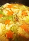 温かレタスのたまごスープ。