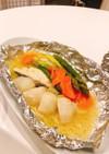 タラの粕漬と色々野菜のホイル焼き