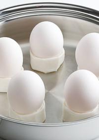 ステンレス鍋でゆで卵をつくる