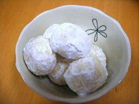 冬の定番お菓子☆ブールドネージュ