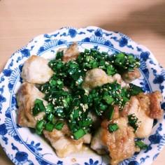 米油でヘルシー☆鶏肉のニラダレ和え