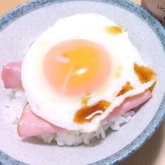 ハマる!究極のハムエッグ丼☆