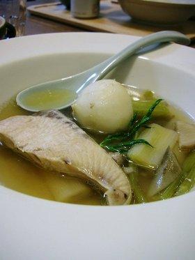 ぶりとかぶの和風スープ