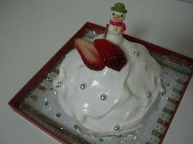 卵なしでクリスマスケーキ