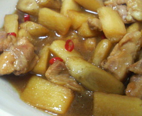 ■鶏肉と根菜の甘酢煮■