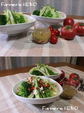 トマトと玉子のドレッシング