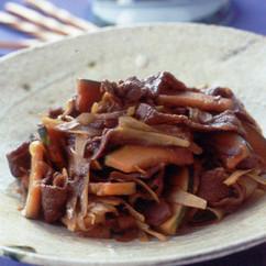 牛肉とかぼちゃの甘辛炒め
